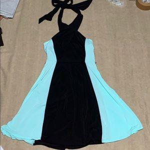 Vince Camuto mint green & black dress